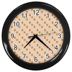 Christmas Wrapping Paper Wall Clocks (black)