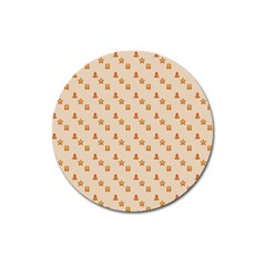 Christmas Wrapping Paper Magnet 3  (Round)