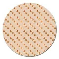 Christmas Wrapping Paper Magnet 5  (round)