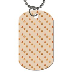 Christmas Wrapping Paper Dog Tag (one Side)