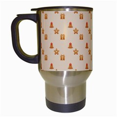 Christmas Wrapping Paper Travel Mugs (white)