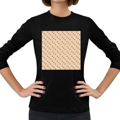 Christmas Wrapping Paper Women s Long Sleeve Dark T Shirts