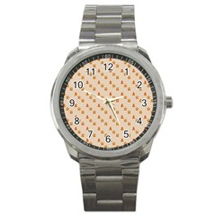 Christmas Wrapping Paper Sport Metal Watch