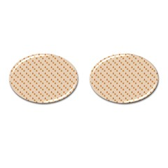 Christmas Wrapping Paper Cufflinks (Oval)