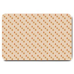 Christmas Wrapping Paper Large Doormat
