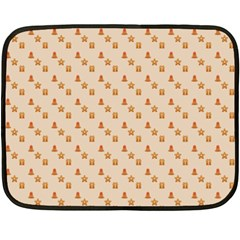 Christmas Wrapping Paper Double Sided Fleece Blanket (mini)