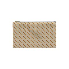 Christmas Wrapping Paper Cosmetic Bag (small)