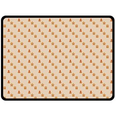 Christmas Wrapping Paper Fleece Blanket (Large)