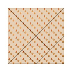 Christmas Wrapping Paper Acrylic Tangram Puzzle (6  X 6 )