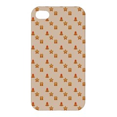 Christmas Wrapping Paper Apple Iphone 4/4s Premium Hardshell Case