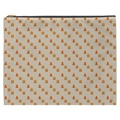 Christmas Wrapping Paper Cosmetic Bag (xxxl)