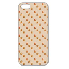 Christmas Wrapping Paper Apple Seamless Iphone 5 Case (clear)