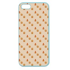 Christmas Wrapping Paper Apple Seamless Iphone 5 Case (color)