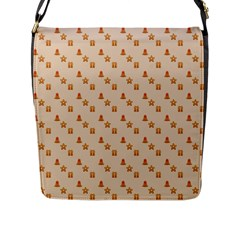 Christmas Wrapping Paper Flap Messenger Bag (l)