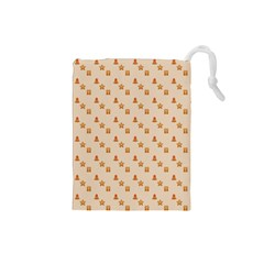 Christmas Wrapping Paper Drawstring Pouches (small)