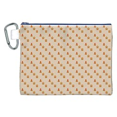 Christmas Wrapping Paper Canvas Cosmetic Bag (xxl)