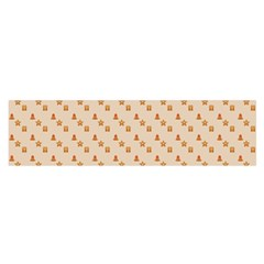 Christmas Wrapping Paper Satin Scarf (oblong)