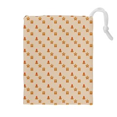 Christmas Wrapping Paper Drawstring Pouches (extra Large)