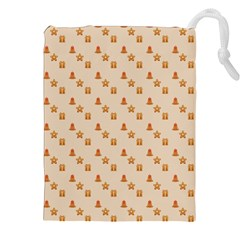 Christmas Wrapping Paper Drawstring Pouches (xxl)