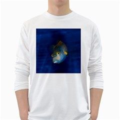 Fish Blue Animal Water Nature White Long Sleeve T Shirts