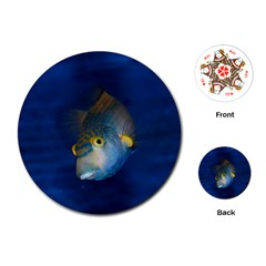 Fish Blue Animal Water Nature Playing Cards (Round)