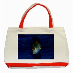 Fish Blue Animal Water Nature Classic Tote Bag (red)