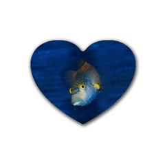 Fish Blue Animal Water Nature Heart Coaster (4 pack)