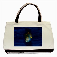 Fish Blue Animal Water Nature Basic Tote Bag (two Sides)