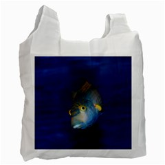Fish Blue Animal Water Nature Recycle Bag (one Side)
