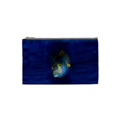 Fish Blue Animal Water Nature Cosmetic Bag (small)