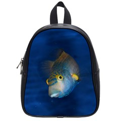 Fish Blue Animal Water Nature School Bags (small)