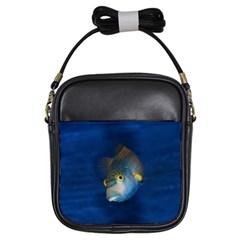 Fish Blue Animal Water Nature Girls Sling Bags