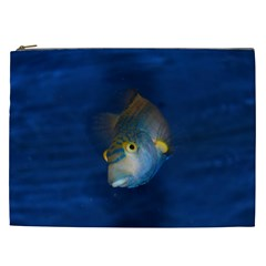 Fish Blue Animal Water Nature Cosmetic Bag (xxl)