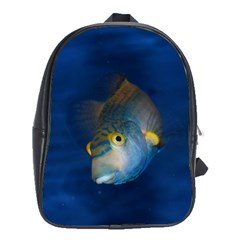 Fish Blue Animal Water Nature School Bags (xl)
