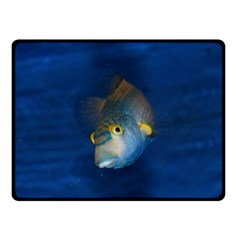 Fish Blue Animal Water Nature Double Sided Fleece Blanket (small)