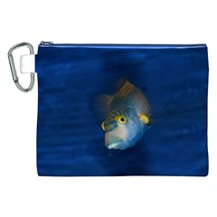 Fish Blue Animal Water Nature Canvas Cosmetic Bag (xxl)