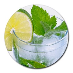 Cold Drink Lime Drink Cocktail Round Mousepads