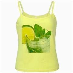 Cold Drink Lime Drink Cocktail Yellow Spaghetti Tank