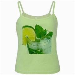Cold Drink Lime Drink Cocktail Green Spaghetti Tank