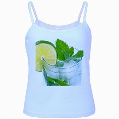 Cold Drink Lime Drink Cocktail Baby Blue Spaghetti Tank
