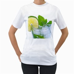 Cold Drink Lime Drink Cocktail Women s T Shirt (white) (two Sided)