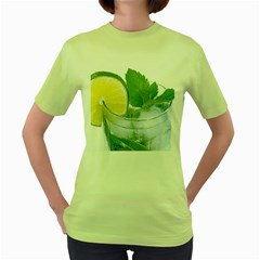 Cold Drink Lime Drink Cocktail Women s Green T Shirt