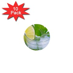 Cold Drink Lime Drink Cocktail 1  Mini Buttons (10 Pack)
