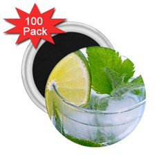 Cold Drink Lime Drink Cocktail 2 25  Magnets (100 Pack)