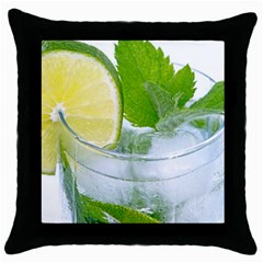 Cold Drink Lime Drink Cocktail Throw Pillow Case (black)