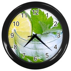 Cold Drink Lime Drink Cocktail Wall Clocks (black)