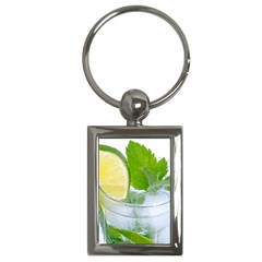 Cold Drink Lime Drink Cocktail Key Chains (rectangle)