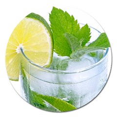 Cold Drink Lime Drink Cocktail Magnet 5  (round)