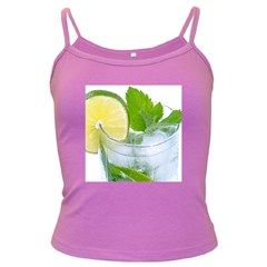 Cold Drink Lime Drink Cocktail Dark Spaghetti Tank