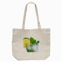 Cold Drink Lime Drink Cocktail Tote Bag (cream)